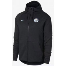 17-18 Manchester City Black zipper hoodie (17-18 曼城黑色拉链带帽卫衣)