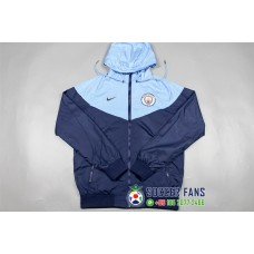 17-18 Manchester City wind breaker (17-18 曼城拉链带帽风衣)
