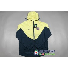 17-18 Club America wind breaker (17-18 美洲拉链带帽风衣)