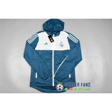 17-18 Real Madrid Blue wind breaker (17-18 皇马蓝色风衣)