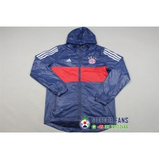17-18 Bayern Blue Wind Breaker (拜仁蓝色风衣)