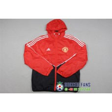 17-18 Manchester United Red Wind Breaker (曼联红色风衣)