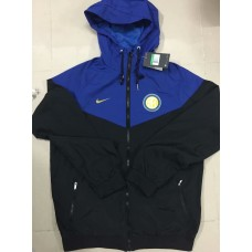 18-19 Inter Milan Blue Wind Breaker (18-19国米蓝色帽子风衣)