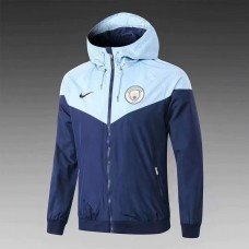 18-19 Manchester City Blue Breaker (18-19曼城蓝色帽子风衣)