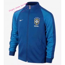 16-17 Brazil Away Blue Jacket