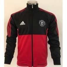 17-18 Manchester United Red and Black high neck Jacket (17-18 曼联高领红黑色夹克)