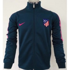 17-18 Atletico Madrid Blue Jacket (17-18 马竞蓝色夹克)