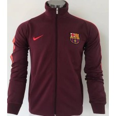 17-18 Barcelona high neck Red Jacket (17-18 巴塞高领红色夹克)