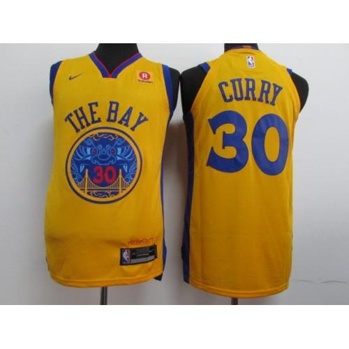 1d14f49641b3 17-18 Golden State Warriors Yellow Jersey