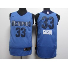 17-18 Memphis Grizzlies Blue Jersey, Only 11#, 33# ( please write the number name below)