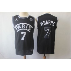 18-19 PSG Jordan Black  Jersey , Only 7#,10#,23#