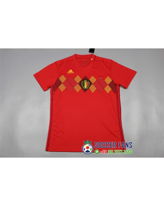 2018 World Cup Belgium Home Red Fans Verison 1:1 Quality (2018世界杯比利时主场红色球迷1:1)