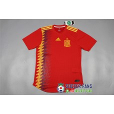 2018 World Cup Spain Home Red Player Version 1:1 Quality (2018世界杯西班牙主场红色球员1:1)