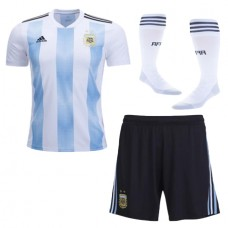 2018 World Cup Argentina Home 1:1 Quality Jersey Whole Kit (Jersey+Short+Socks) (2018世界杯阿根廷主场1:1套装)