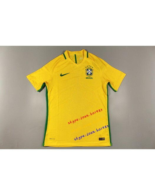 16-17 Brazil Home, Player Version, Thai Quality(16-17 巴西主场球员)