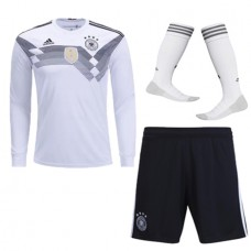 2018 World Cup Germany Home Long Sleeve Jersey Whole Kit (Jersey+Short+Socks)(2018世界杯德国主场长袖套装)