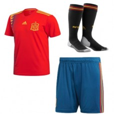 2018 World Cup Spain Home 1:1 quality Jersey Full Kits (Jersey+Short+Socks)(2018世界杯西班牙主场1:1短袖套装)