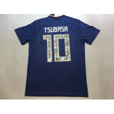 2018 World Cup Japan Home Blue , 10#TSUBASA, With World Cup Patch (2018世界杯日本主场蓝色 10#TSUBASA(足球小将)+植绒臂章)