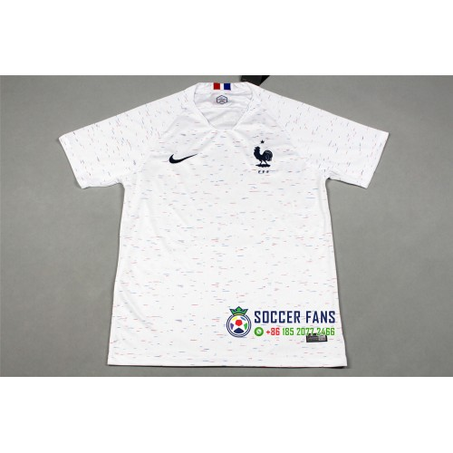 Sale, 1pcs 10$(min 3 pcs), 2018 World Cup France Away White Fans Verison 1:1 Quality (2018世界杯法国客场白色球迷1:1)