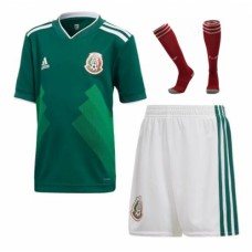 2018 World Cup Mexico Home Short Sleeve Full Kits (Jersey+Short+Socks)(2018世界杯墨西哥主场短袖套装)