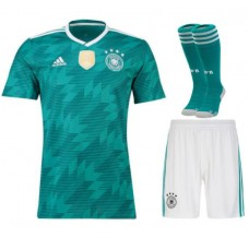 2018 World Cup Germany Away Short Sleeve Full Kits (Jersey+Short+Socks)(2018世界杯德国客场短袖套装)