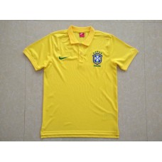 2018 World Cup Brazil Yellow Mans Polo Suit (2018世界杯巴西黄色Polo)