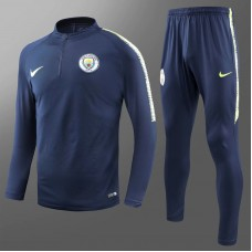 2018 World Cup Manchester City Navy Blue Training suit (18-19曼城深蓝色加绒训练服)