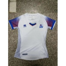 2018 World Cup Iceland Away White Women's Jersey (2018世界杯冰岛客场白色女装)