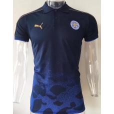17-18 Leicester City Blue Camouflage Mans Polo (17-18 莱斯特城蓝色Polo)