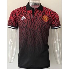 17-18 Manchester United Mans Polo (17-18 曼联红色Polo)