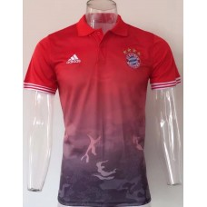 17-18 Bayern Red Mans Polo (17-18 拜仁红色Polo)