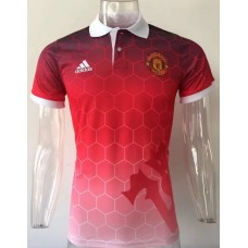 17-18 Manchester United Red Mans Polo (17-18 曼联红色Polo)