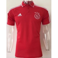 17-18 Ajax Red Man's Polo (17-18 阿贾克斯红色Polo)