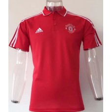 17-18 Manchester United Red Man's Polo (17-18 曼联红色Polo)