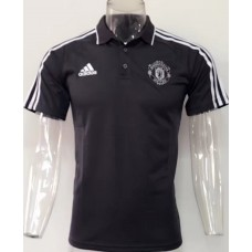 17-18 Manchester United Black Man's Polo (17-18 曼联黑色Polo)