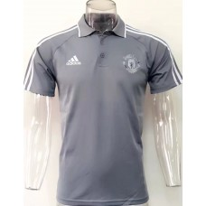 17-18 Manchester United Gray Man's Polo (17-18 曼联灰色Polo)