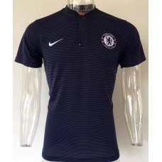 17-18 Chelsea Navy Blue Man's Polo (17-18 切尔西深蓝Polo)