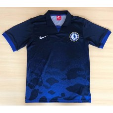 17-18 Chelsea Camouflage Blue Man's Polo (17-18迷彩切尔西蓝色Polo)