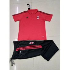 17-18 AC Milan Red Mans Polo Suit (17-18 AC米兰红色Polo套装)