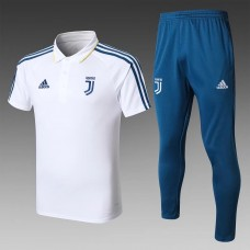 17-18 Juventus White Mans Polo Suit (17-18尤文白色Polo套装)