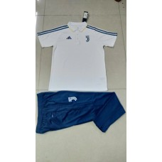 17-18 Juventus White Mans Polo Suit (17-18尤文白色短袖训练服)