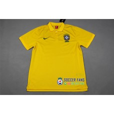 2018 World Cup Brazil Yellow Mans Polo (2018世界杯巴西黄色Polo)