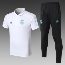 17-18 Real Madrid White Mans Polo Suit (17-18皇马白色Polo套装)