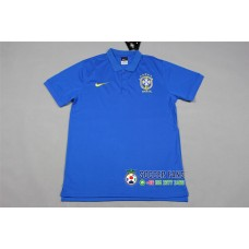 2018 World Cup Brazil Blue Mans Polo (2018世界杯巴西蓝色Polo)