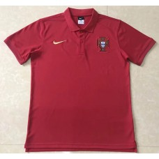 2018 World Cup Portugal Red Mans Polo (2018世界杯葡萄牙红色Polo)