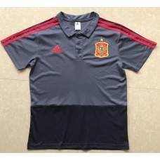 18-19 Spain Gray Mans Polo (18-19西班牙深灰色Polo)