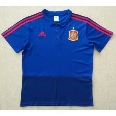 2018 World Cup Spain Blue Mans Polo (2018世界杯西班牙蓝色Polo)