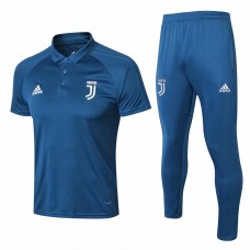 18-19 Juventus Blue Mans Polo Suit (18-19尤文蓝色Polo套装)