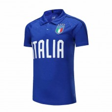 2018 World Cup Italia Blue Mans Polo (2018世界杯意大利蓝色Polo)
