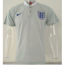 2018 World Cup England Grey Mans Polo (2018世界杯英格兰灰色)